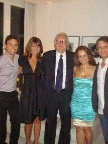 Jaime Soares . Richard Meier e sua assistente . Myrna Porcaro . Fernando Vignoli